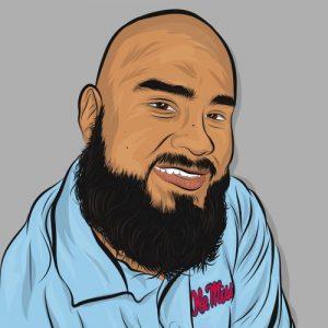 cartoon drawing of Frank Estrada