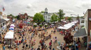 photo of Double Decker art festival taken from above