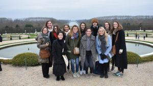 student groups gathered together in Paris
