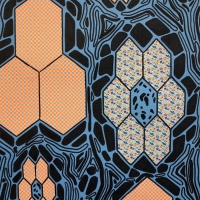 Abstract paper art of geometric designs.
