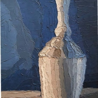 Painting of a vase.