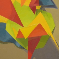 Abstract origami painting.