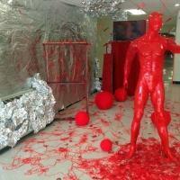 Brandon-Parkers-sculpture-installation-for-beginning-sculpture-class