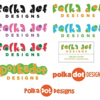 Different designs of a business card.