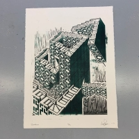 Print of an abstract building