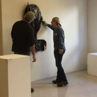 BFA-student-Cecelia-Mosley-receives-feedback-from-Professor-Durant-Thompson-during-an-in-progress-critique