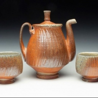 Ceramics-Will-McComb-thesis-work-of-a-tea-pot-and-two-cups